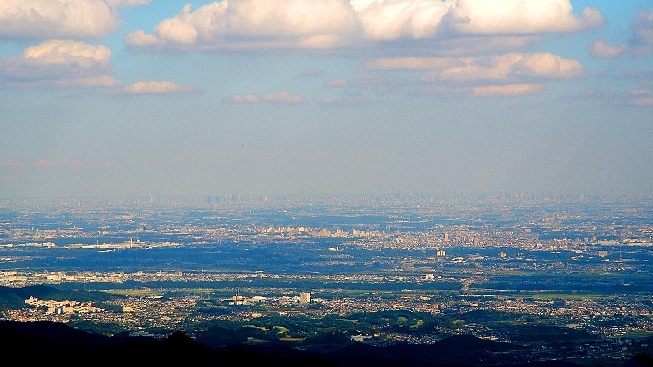 見晴台(標高770m)からの眺め